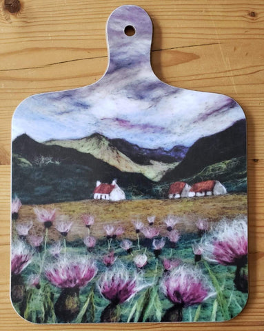 Athnamulloch Thistles Mini Chopping Board