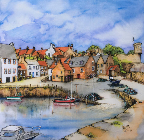 Crail Harbour, Fife by Lilias Card