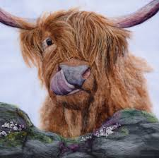 'Iza' Highland Cow Placemat