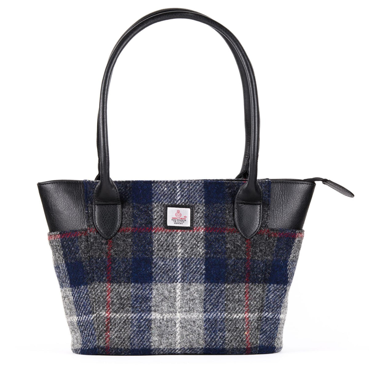 Large Tote Blue Check