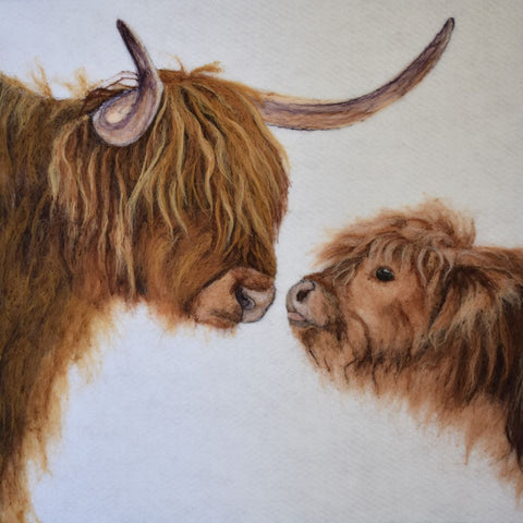 'Love you' Highland Cow Placemat