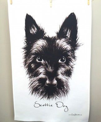 Scottie Tea Towel