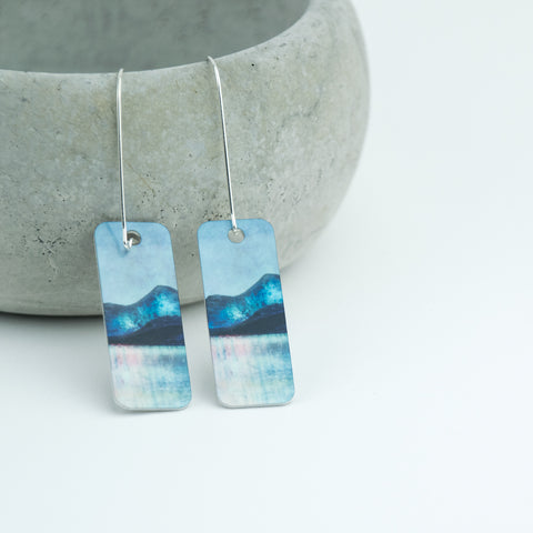 Sound of Mull Aluminum & Silver Earrings