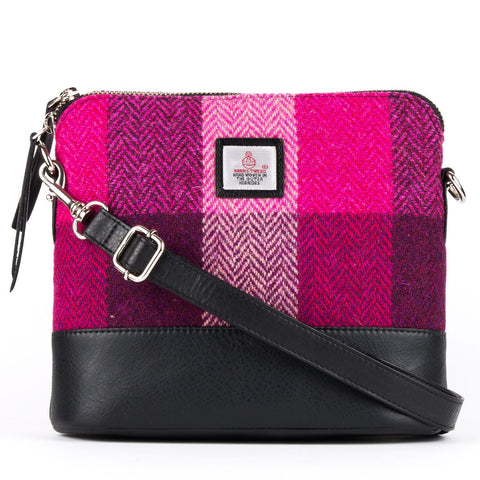 Square shoulder bag pink Squares front