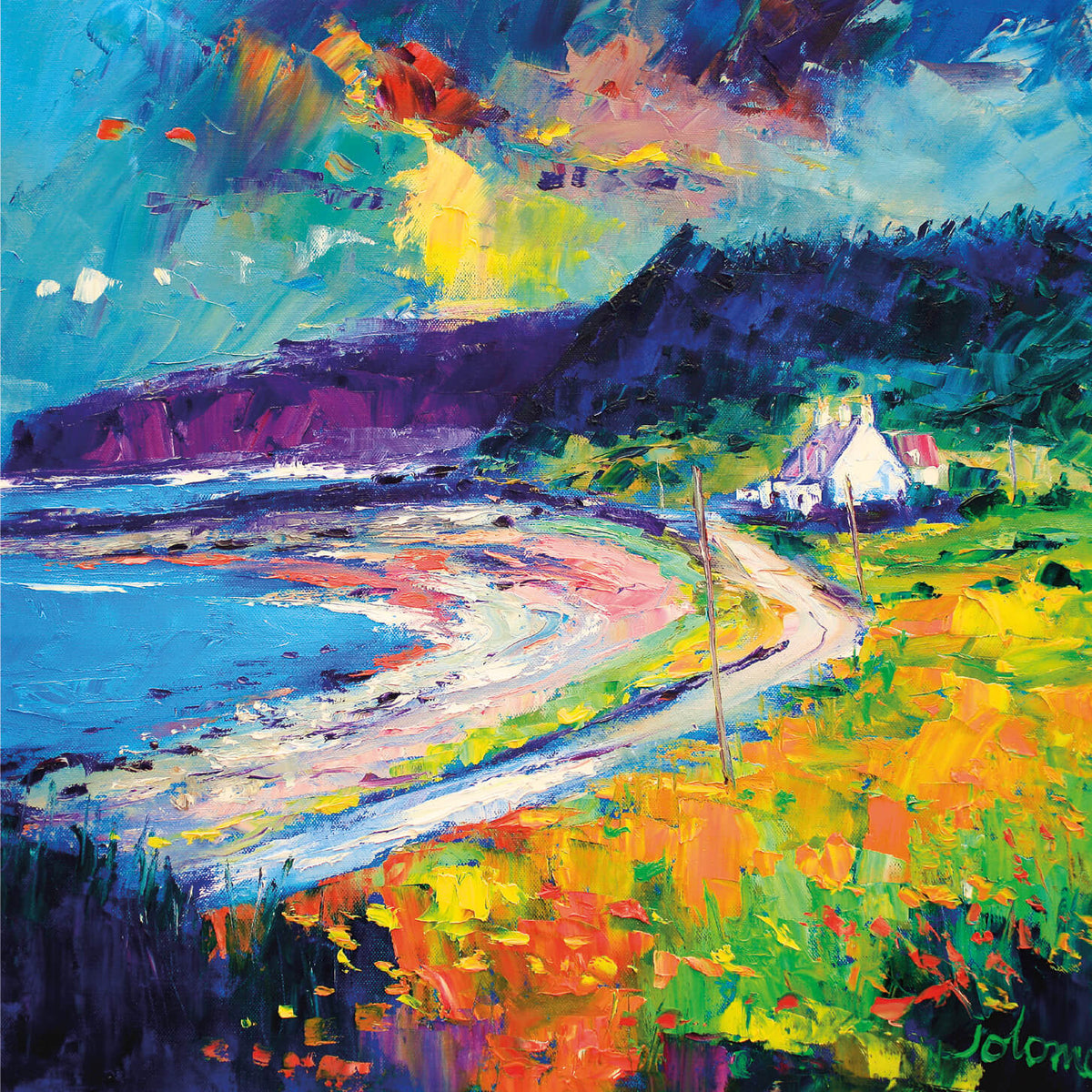 Stormy Day Kildonan, Isle of Arran Card by Jolomo