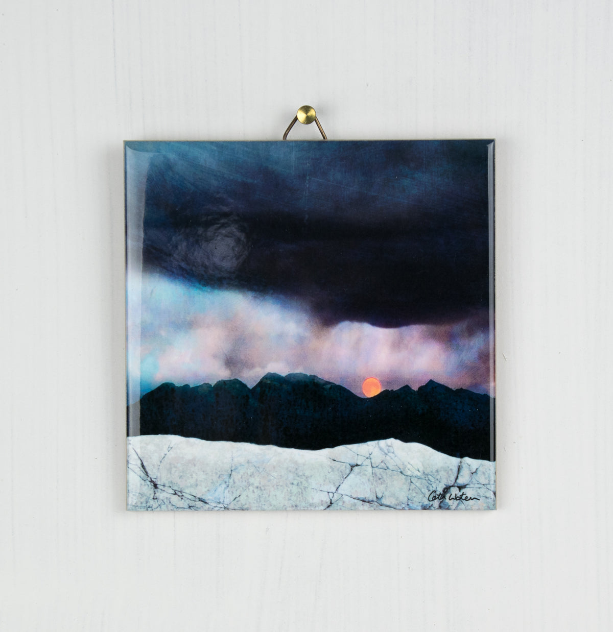 Strawberry Moonrise, Isle of Skye Ceramic Tile