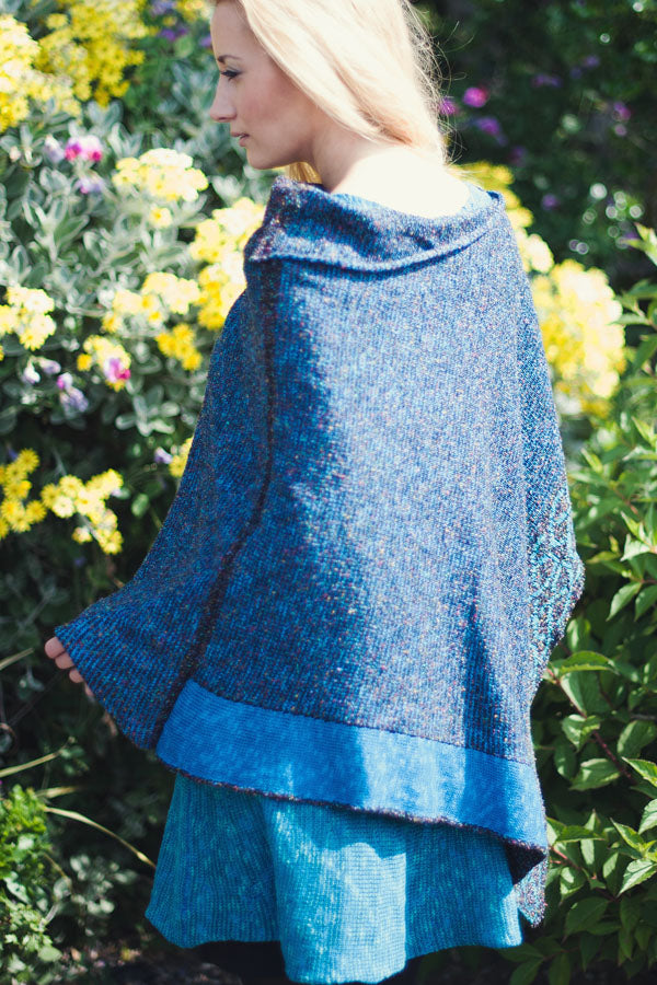 Wallace Shawl in Ocean 1