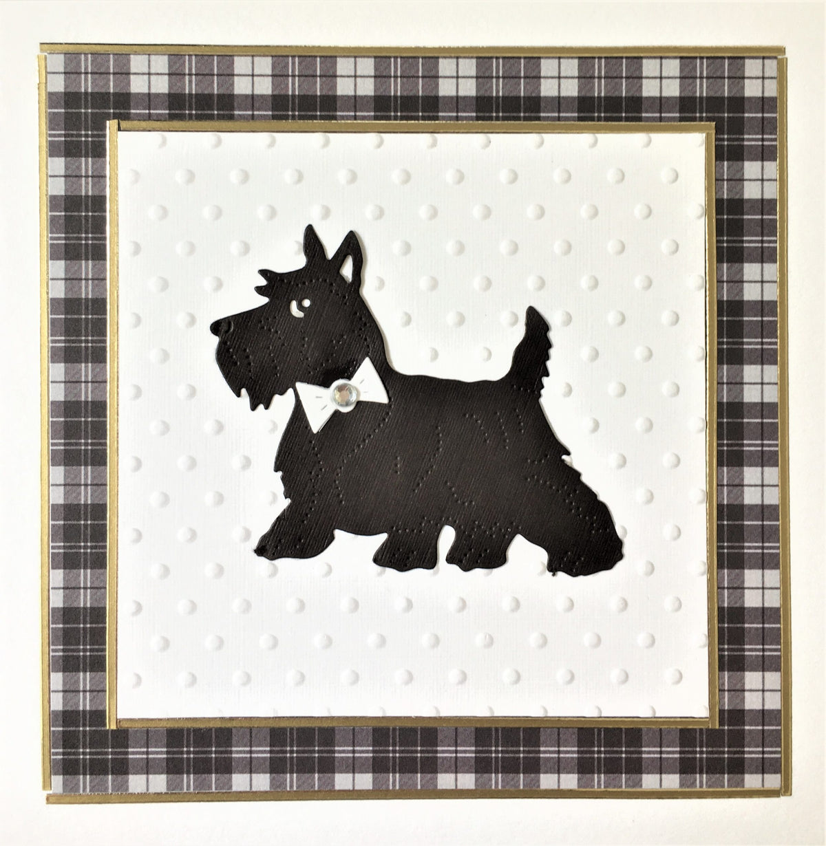 Westie set in Tartan Card
