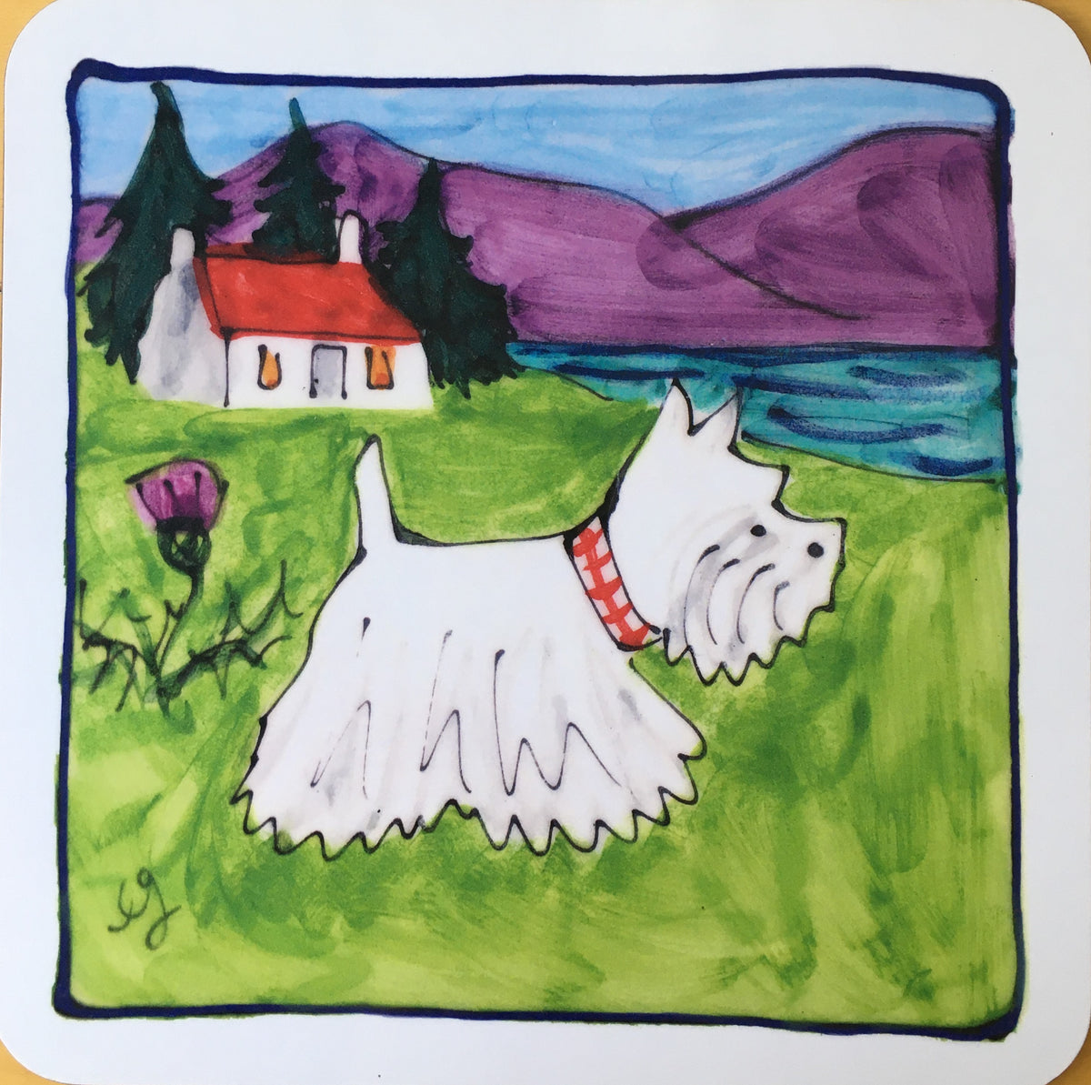 Scottie and Westie Placemat