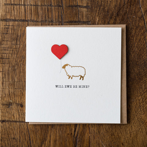 Will Ewe Be Mine Card