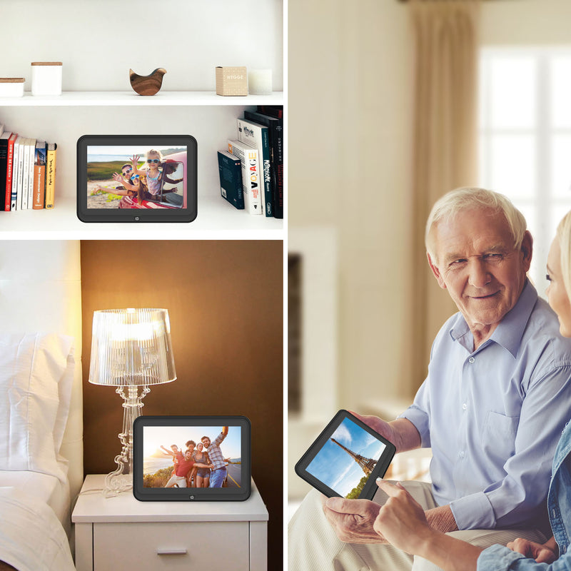 HP df1050tw 10.1 inch WiFi Digital Photo Frame with HD Display, iPhone & Android App, 8GB Internal Storage, SD Card, Memory Drive Slots, Stereo Speakers