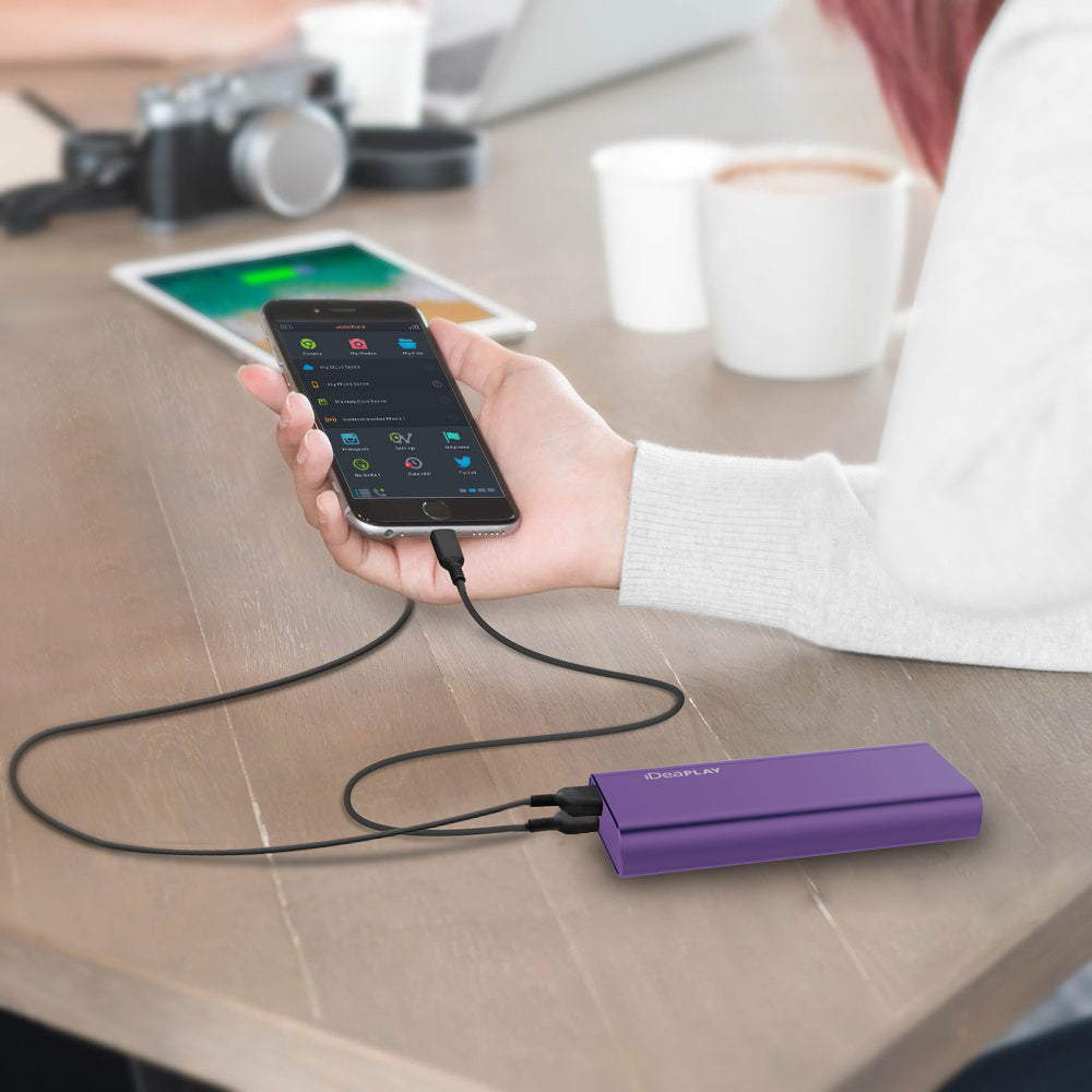 iDeaPlay B100 Dual USB Port 10000mAh Power Bank - ideaelectronics