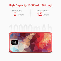 iDeaPlay K3 10,000mAh Power Bank w/ Digital Display 3-pack