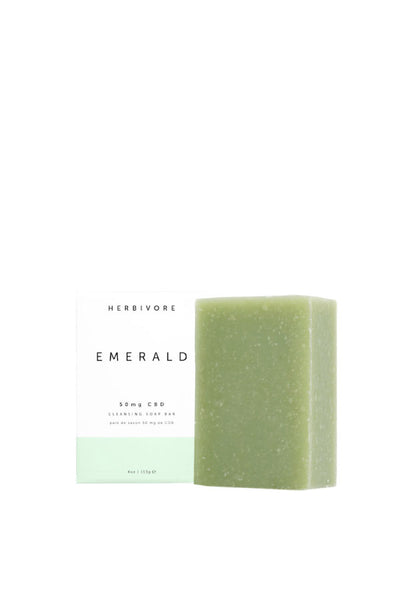 Herbivore Botanicals Emerald 50mg CBD Cleansing Soap Bar - Parc Shop