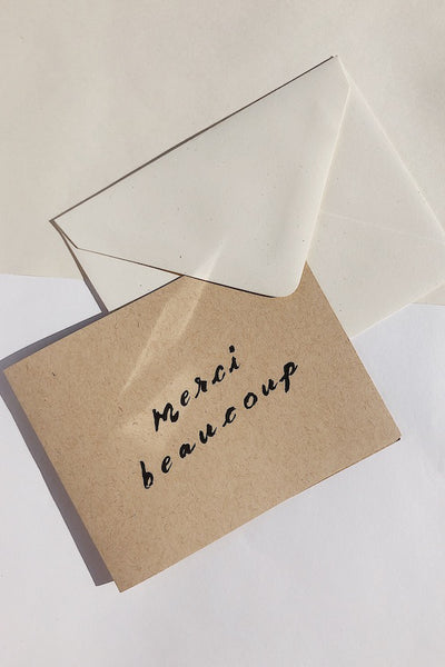 Wilde House Paper Merci Beaucoup Card