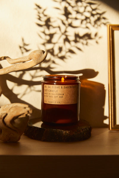 P.F. Candle Co. Cedar & Sagebrush Soy Candle Parc Shop