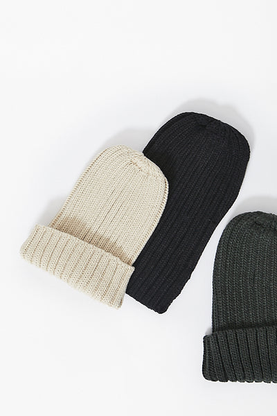 Thick Ribbed Beanie