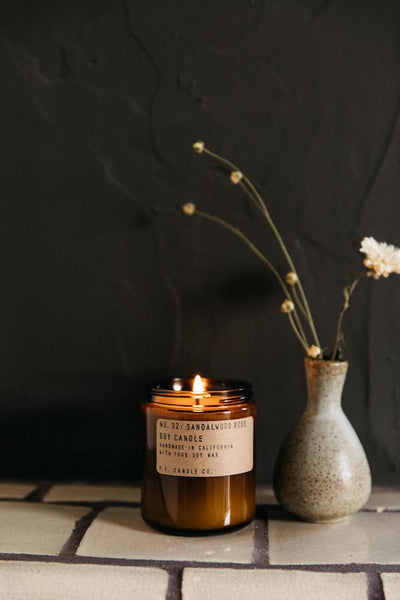 P.F. Candle Co. Sandalwood Rose Soy Candle Parc Shop