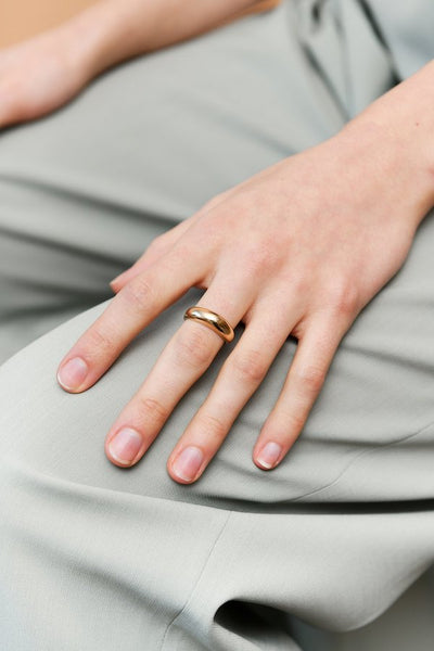 Seaworthy Setting Sun Ring Brass Gold Handmade Portland OR - Parc Shop