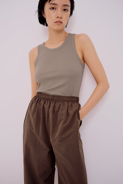 Mijeong Park Ribbed Tank / Light Khaki Parc Shop