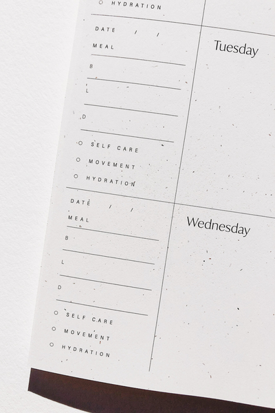 Wilde House Paper Abstract Weekly Planner Parc Shop