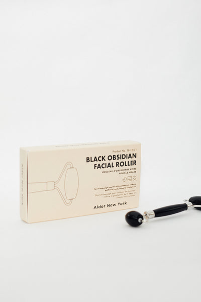 Alder New York Black Obsidian Facial Roller Jade Rose Quartz Facial Massage Glow supports lymphatic drainage less wrinkles - Parc Shop