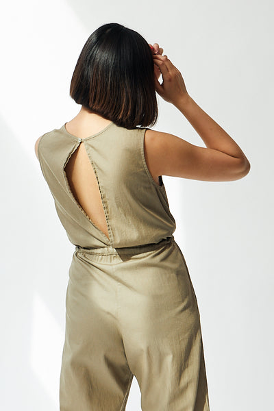 Ali Golden Slit Back Jumper / Khaki Parc Shop
