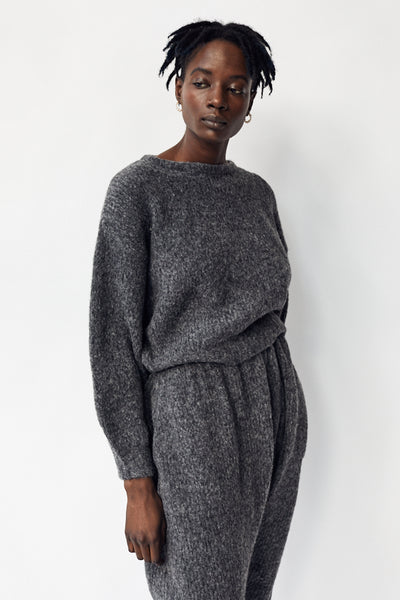 Atelier Delphine Balloon Sleeve Sweater / Charcoal Parc Shop