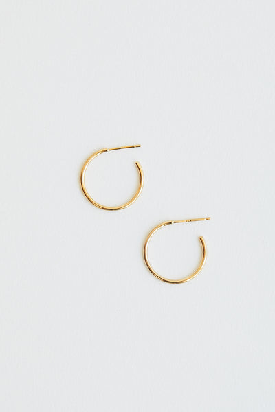 Baleen Leen Hoops Gold Plated Sterling Silver Handmade Seattle Small Hoop Earrings - Parc Shop
