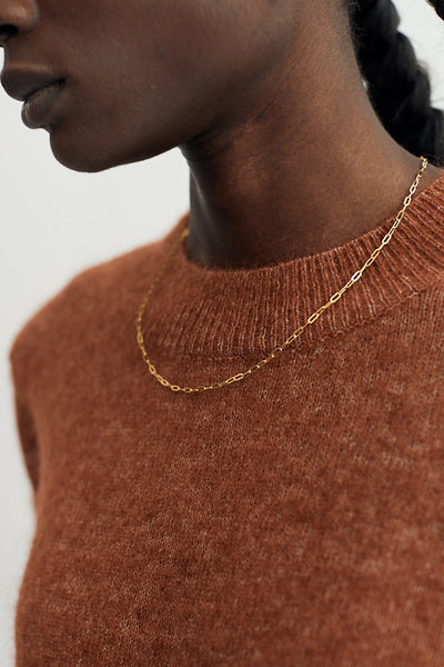 Baleen Solo Necklace Gold-Plated Handmade Seattle Layering Layers - Parc Shop