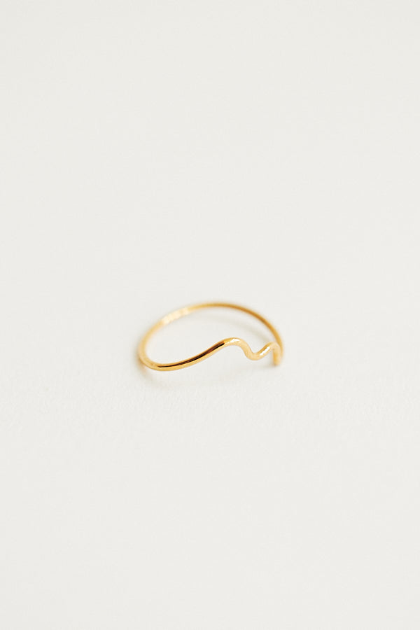 Baleen Squiggle Ring Gold Plated Handmade Seattle - Parc Shop
