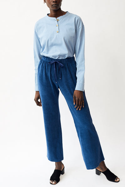 Donni Terry Wide Leg Pant / Indigo Parc Shop
