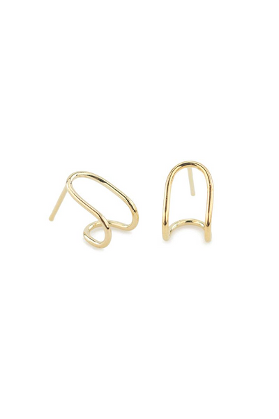 Baleen Double Hugger Earring / Gold Parc Shop