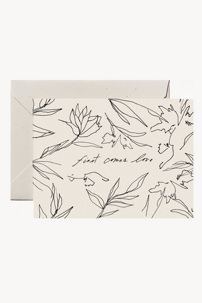 Wilde House Paper First Comes Love Card Parc Shop