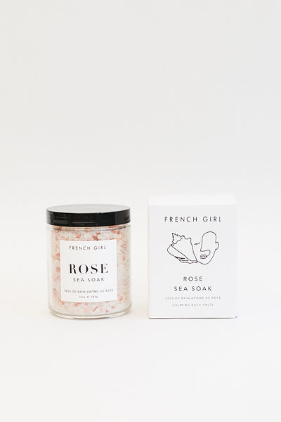 French Girl Organics Rose Sea Soak / Calming Bath Salts Parc Shop