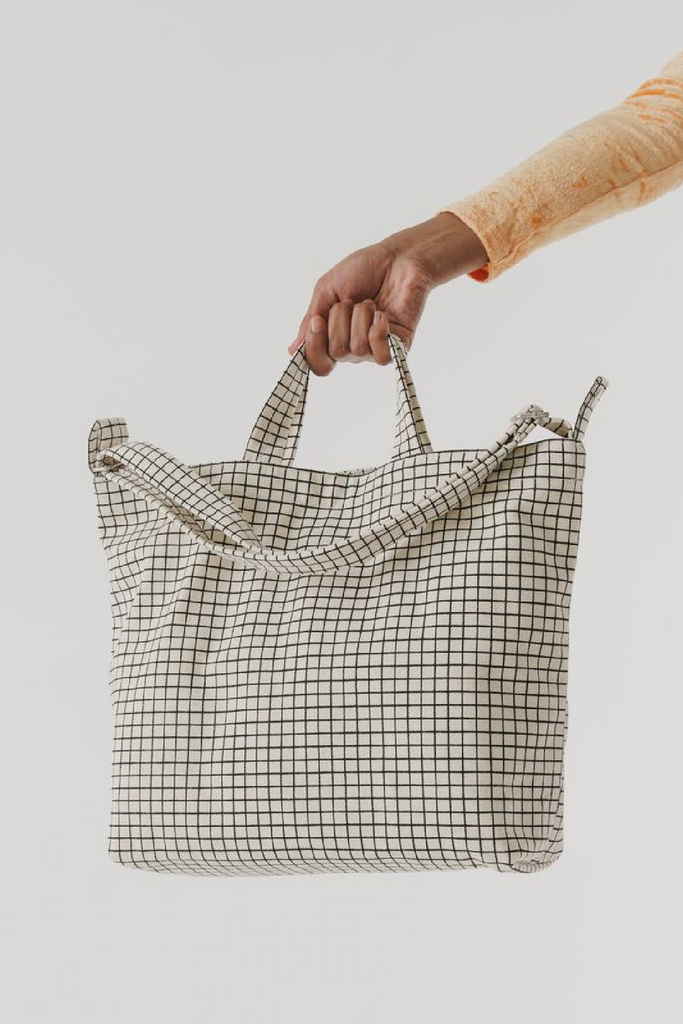 Baggu Horizontal Duck Bag / Natural Grid Parc Shop