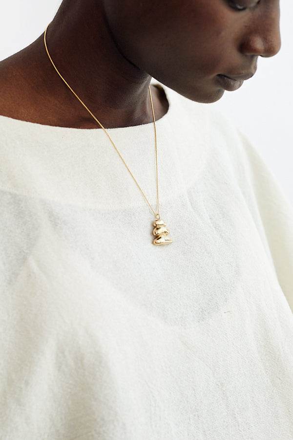 Kiki Koyote Basin Necklace Handmade Brass 14k Gold Fill Filled Minneapolis Hand Carved Jewelry Minimal Minimalist - Parc Shop