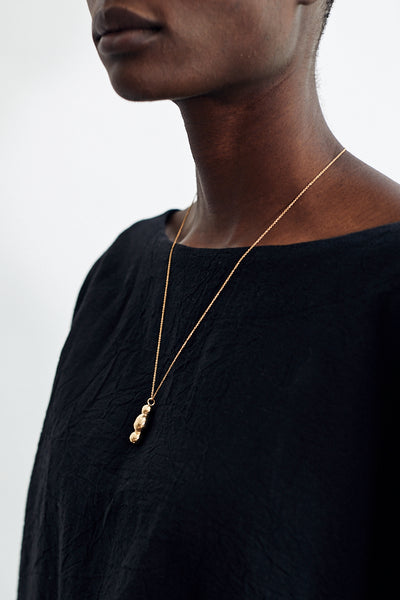 Kiki Koyote Symbol Necklace Handmade Brass 14k Gold Fill Filled Minneapolis Hand Carved Jewelry Minimal Minimalist - Parc Shop