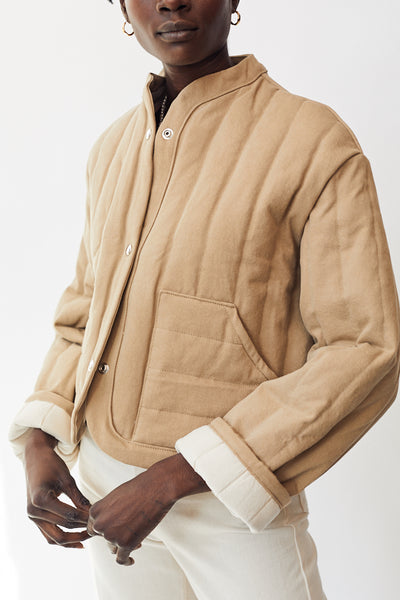 Kordal Cropped Quilted Jacket / Sand Parc Shop