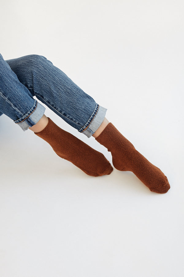 Le Bon Shoppe Cloud Socks Sepia Brown Super Soft Cozy Minimal Minimalist - Parc Shop