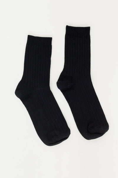 Le Bon Shoppe Her Socks (MC Cotton) / True Black - Parc Shop