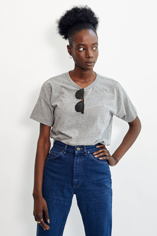 Le Bon Shoppe Her Tee Heather Grey Made in LA Soft Cotton BF Boyfriend tee - Parc Shop