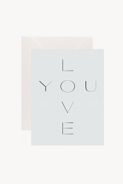 Wilde House Paper Love You Card Parc Shop