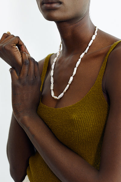 Machete Biwa Pearl Necklace Freshwater Handmade - Parc Shop