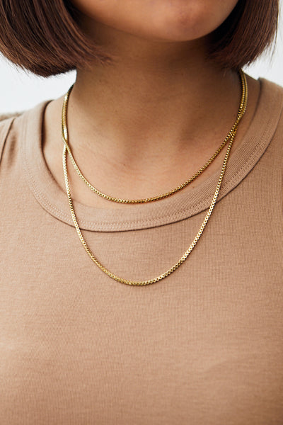 Box Chain Necklace / Gold
