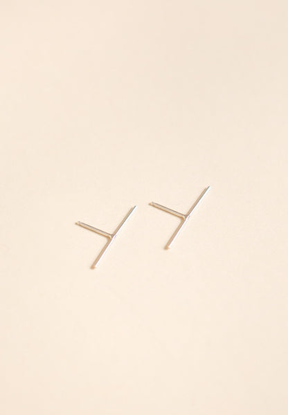 Baleen Long Stick Studs / Silver