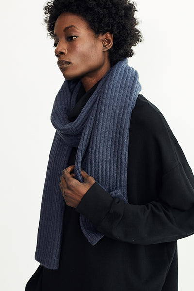 Ribbed Scarf / Denim