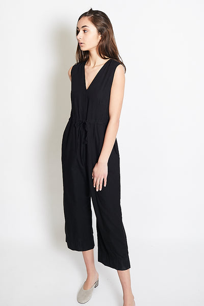 Ali Golden Slit Back Jumper / Black