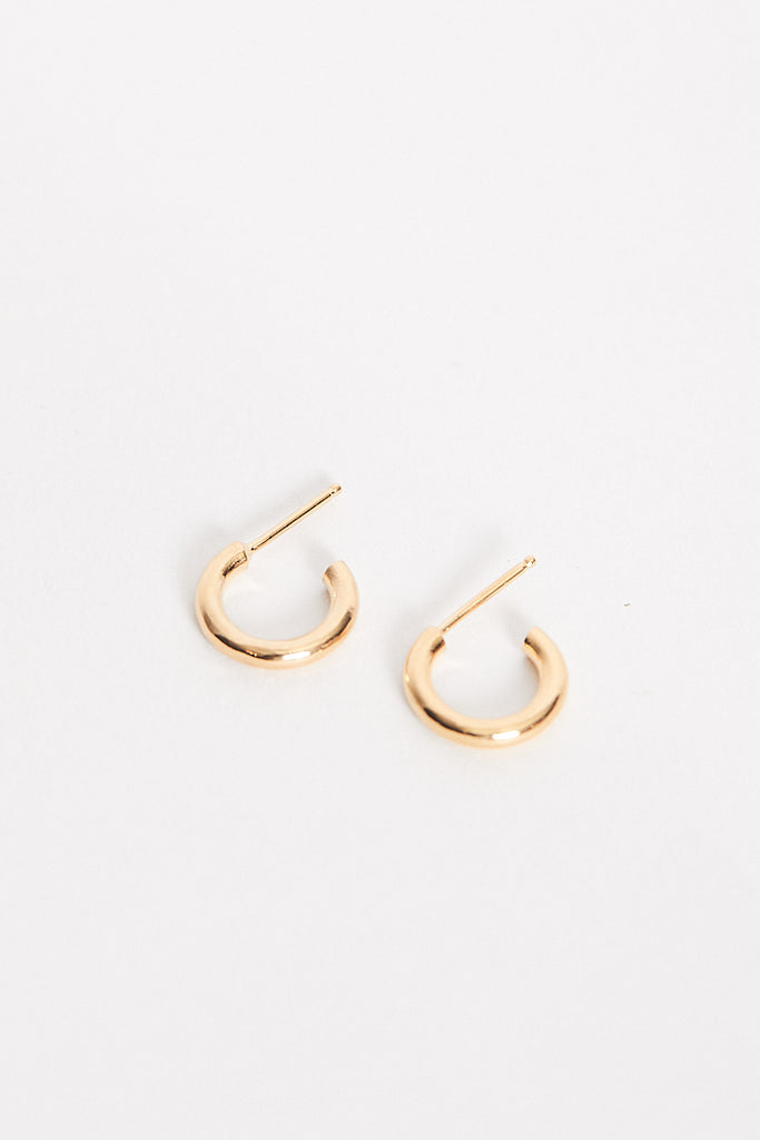 c1c46a49e Wolf Circus Baby Gia Earrings Hoops Gold Handmade Vancouver Small Hoop -  Parc Shop