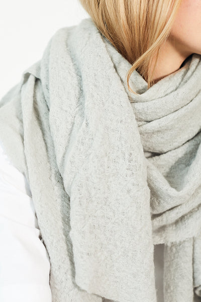 Wool Cloud Scarf / Fog